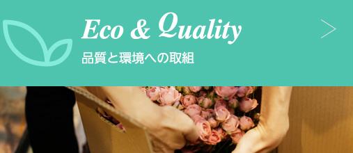 Eco & Quality 品質と環境への取り組み